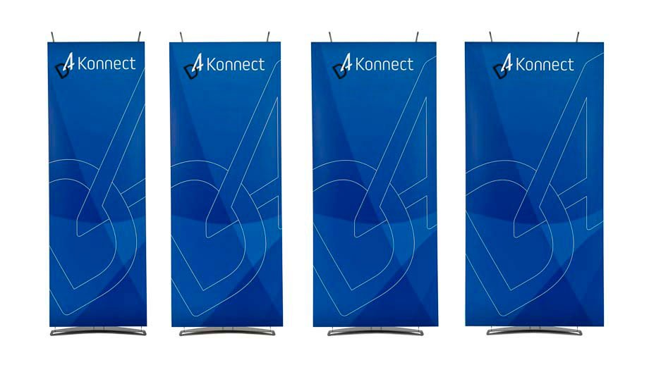 D4 Konnect displays 70cm, 80cm 90cm, 100cm banner stands