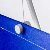 Banner cable fixing detail for D4 tension cable display