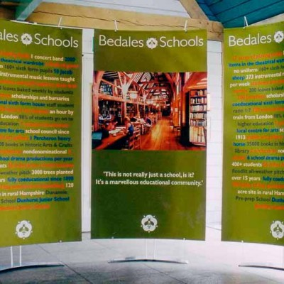 Event and roadshow banner for school
