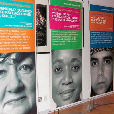 classic D4 banner stands at awards event in london