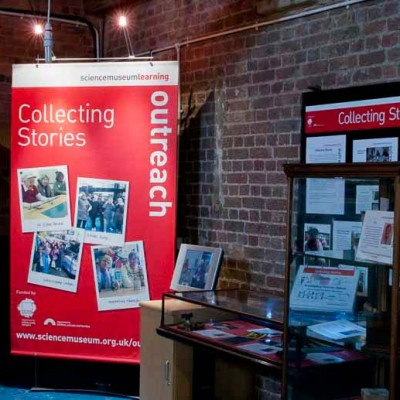 Temporary display graphics at the Canal Museum in Kings Cross London