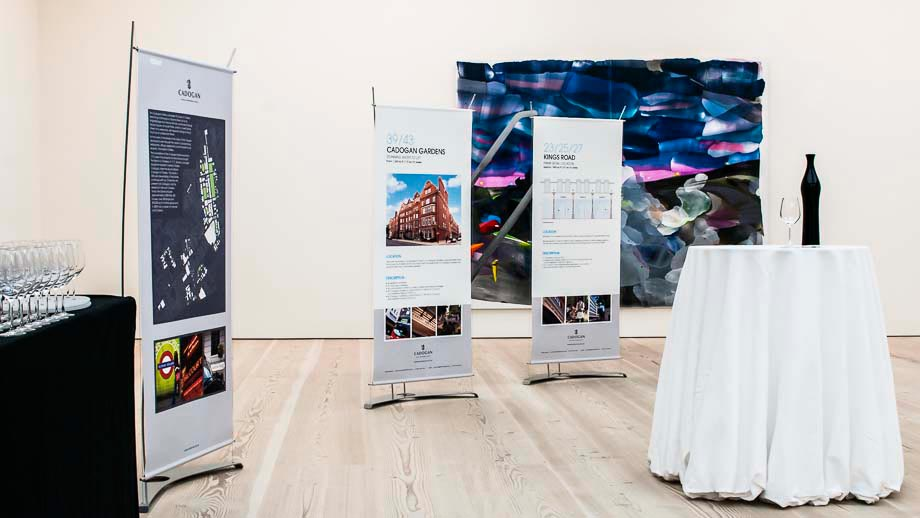 Stylish banner stands for events
