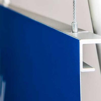 Aluminium graphic banner support rail