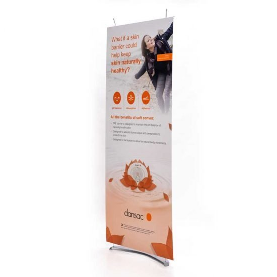 80cm wide tension fabric banner stand