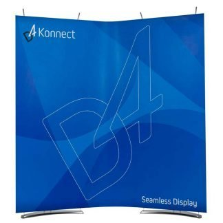 Portable curved seamless banner stand