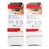 80cm wide tension fabric banner stands
