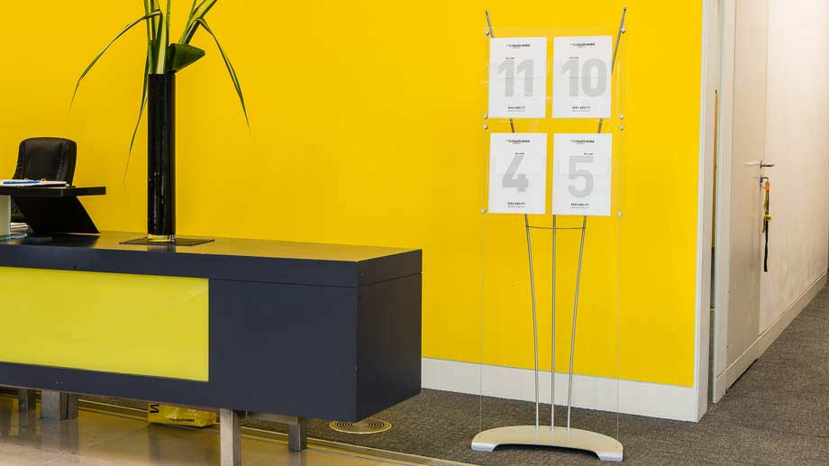 A4 Floor standing designer brochure stands for offices