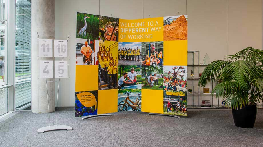 corporate display stands uk manufacturer for interiors / exhibitions