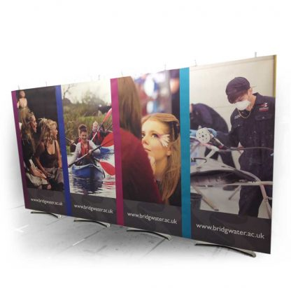 4m wide modular banner displays