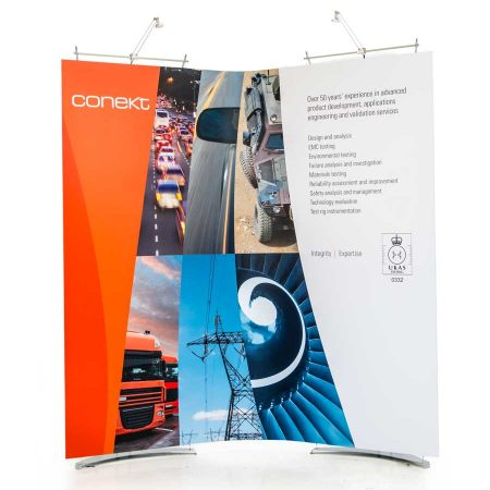 small curved exhibition system