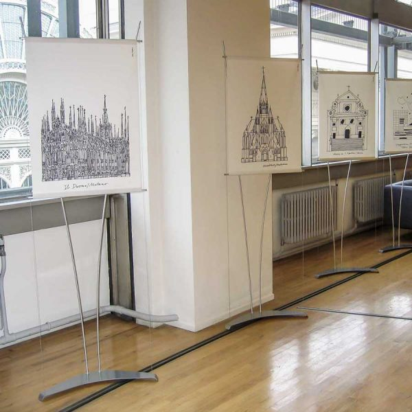 A1 banner display stands