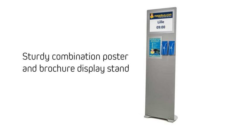 Custom A3 / A4 poster display stand with DL leafet holders