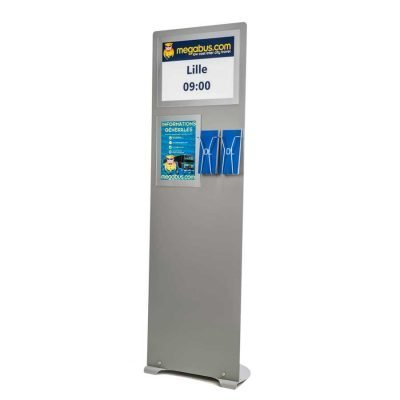 Floor standing A3 brochure and Dl leaflet stand
