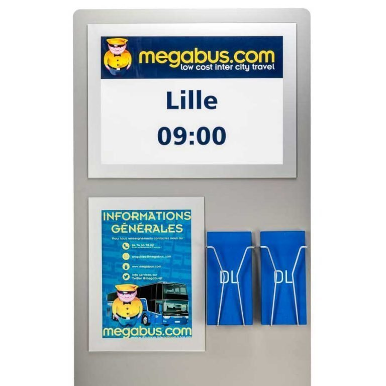 a4 and A3 custom poster display stand with DL leaflets