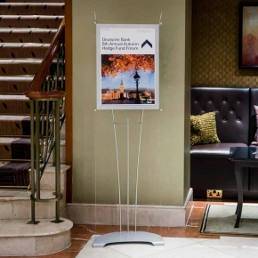 A2 Display stand sign in hotel foyer, A2 Poster Stand