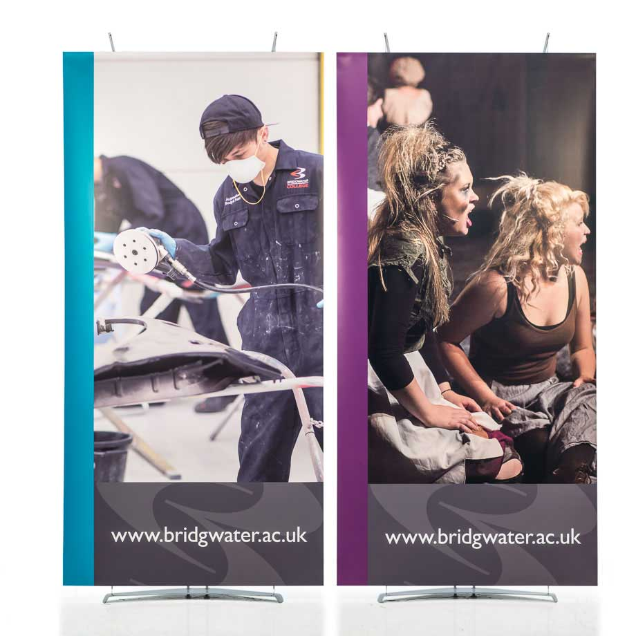 Modular banner displays 100cm wide