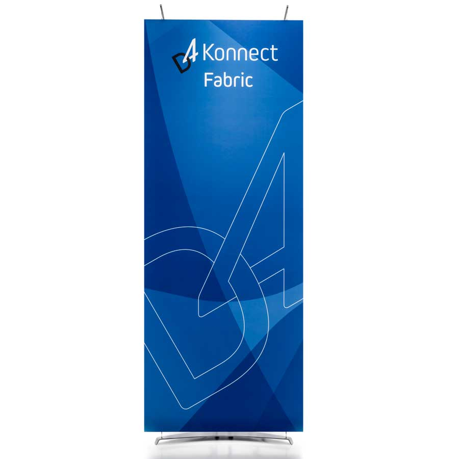 Floor standing tension fabric banner display
