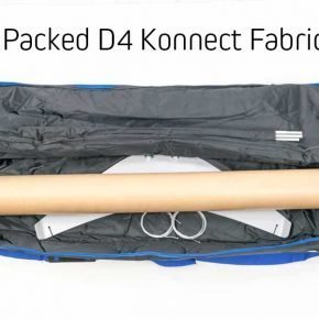 Packed banner stand travel bag