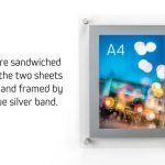 A4 Acrylic Poster Holder with magnetic cover system