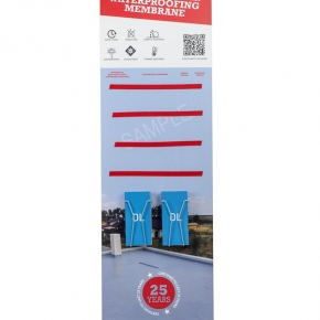 Printed Floor Standing Point of Sale Display Stand  with DL Leaflet Holders