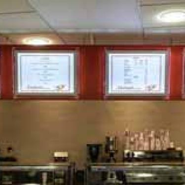 Wall Mounted illuminated A2 menu displays