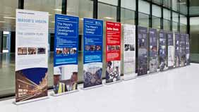 quality pull up banners at event