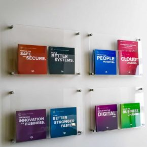 A4 Acrylic Wall Mounted Leaflet Holders