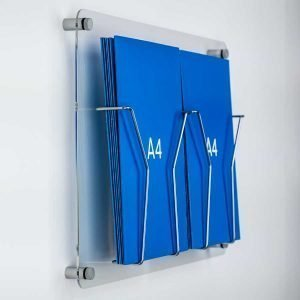 A4 wall fixed brochure display