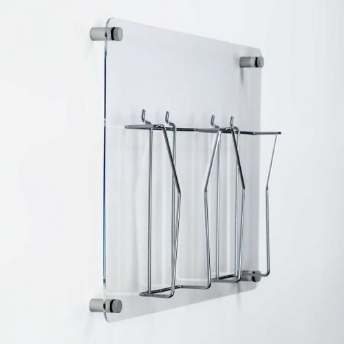 clear acrylic and wire a4 literature display