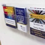 A5 Wall Fixed Brochure Displays