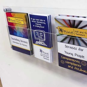 Wall Mounted Acrylic A5 Brochure Holders