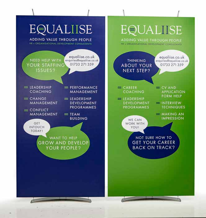 Large 100cm wide exhibition banner stands