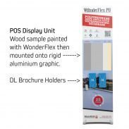 rigid banner stand with DL leaflet holders