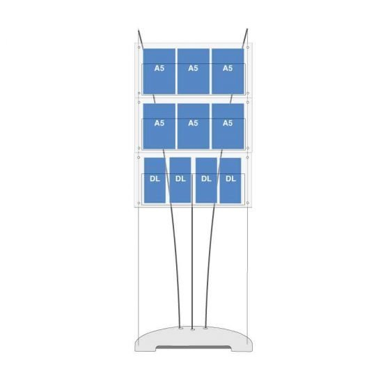A5 and DL leaflet display stand