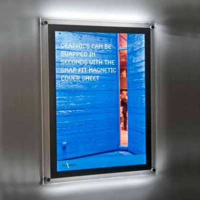 wall mounted LED lightbox displays