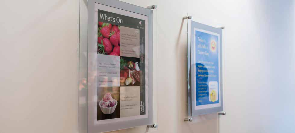 Wall Mounted poster displays, Poster Frames, picture holders, poster holders