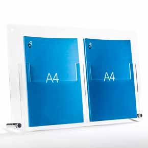 a4 brochure holder table top stand for A4 leaflets