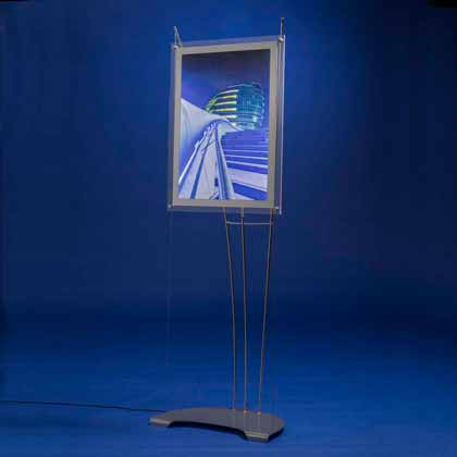 free standing a2 lightbox display stands