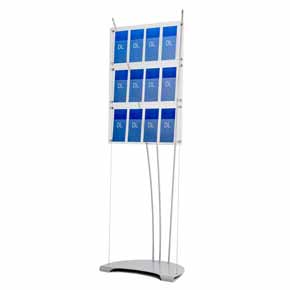 floor standing a5 acrylic leaflet display stands