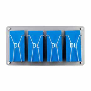 DL leaflet holder wall mounted silver