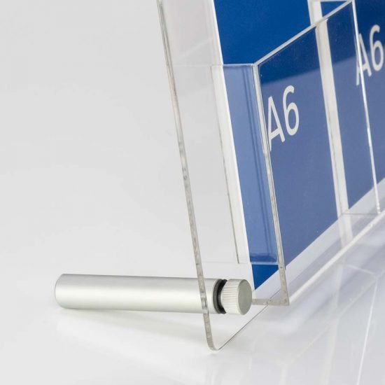 detail of A6 desktop display support feet