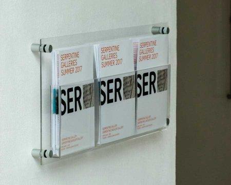 clear acrylic a5 leaflet display