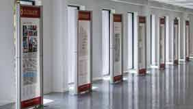 1m modular displays promoting city office space