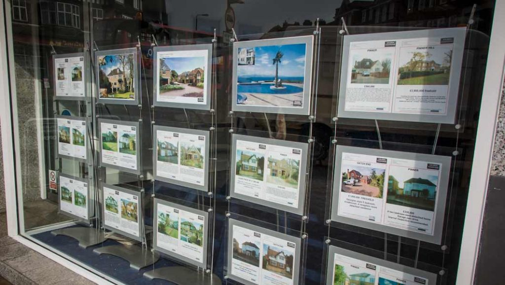 a3 poster displays in shop window