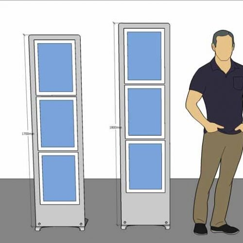 A3 multiple poster display stands visual for office breakout area
