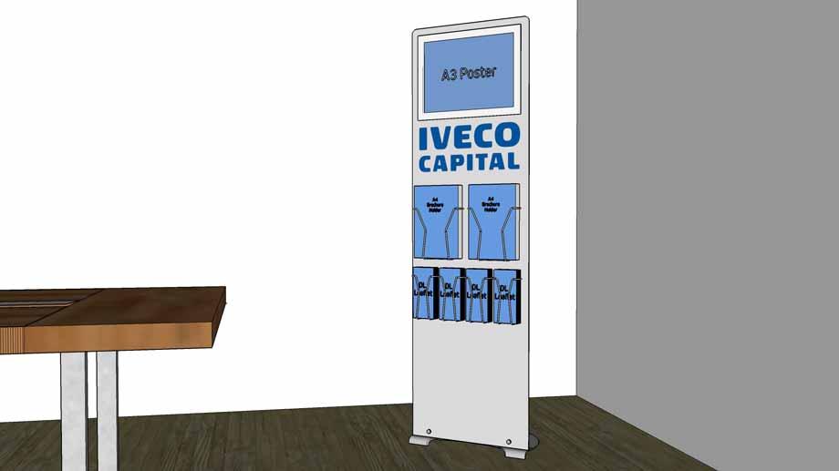 Floor standing custom poster & leaflet display