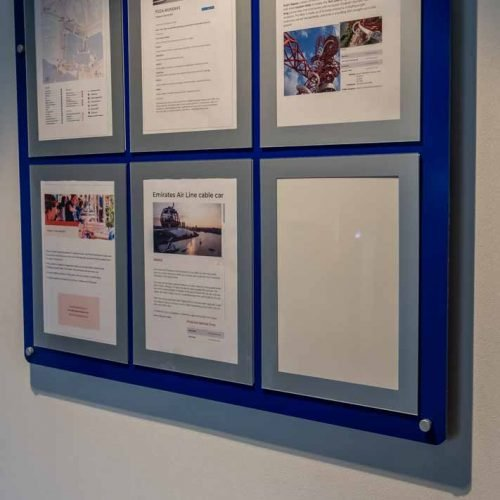 Bespoke Multiple A4 magnetic poster holder display