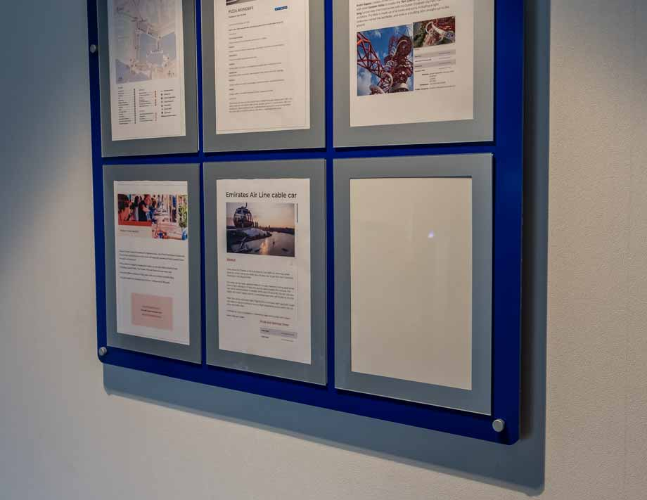 Multiple A4 Poster Frame System Floor Standing Or Wall