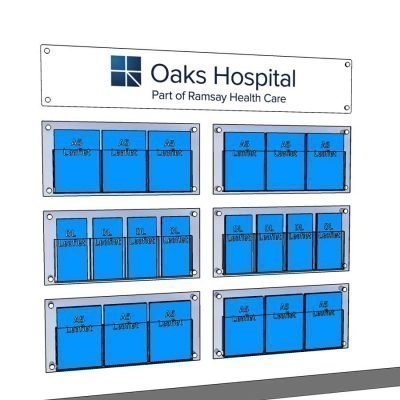 large branded graphic for hospital