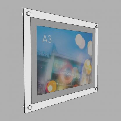 white aluminium poster frame a3